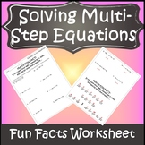 Algebra 1 Solving Equations Activity {Solving Multi Step Equations Activity}