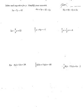 Solving Multi Step Equations Algebra 1 & 2 & Geometry