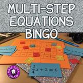 Solving Multi-Step Equations Activity - Bingo