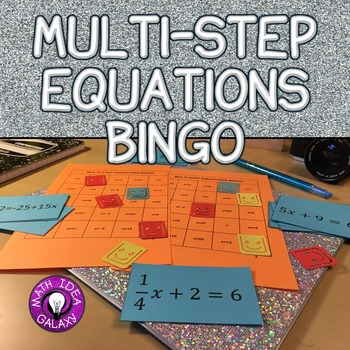 Solving Multi-Step Equations Activity - Bingo