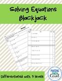 Solving Multi Step Equations Blackjack