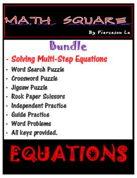 Solving Multi Step Equations Bundle