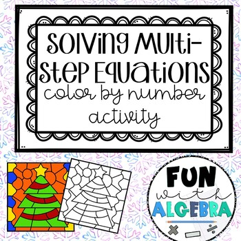 Solving Multi-Step Equations Christmas Math Activity