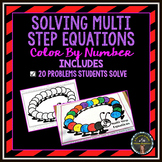 Solving Multi-Step Equations: Color By Number
