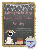 Solving Multi-Step Equations Coloring Activity