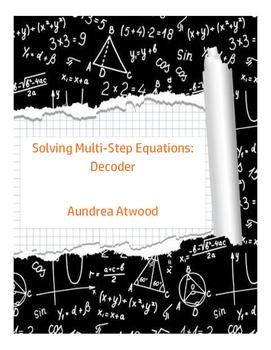 Solving Multi-Step Equations: Decoder