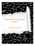 Solving Multi-Step Equations: Decoder