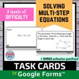Solving Multi Step Equations Digital Task Cards
