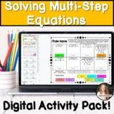 Solving Multi Step Equations Digital Activities