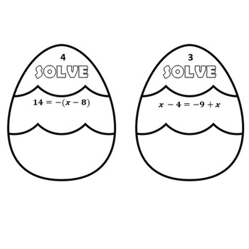 Solving Multi - Step Equations -  Easter Egg Pennants