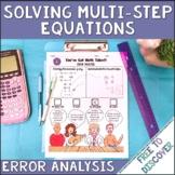 Solving Multistep Equations Error Analysis