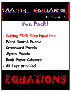 Solving Multi Step Equations FUN PACK!