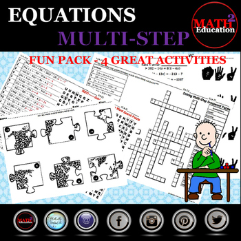 Solving Multi Step Equations FUN PACK!