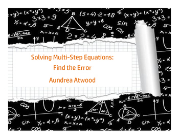 Solving Multi-Step Equations: Find the Error