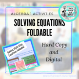 Solving Multi-Step Equations Foldable