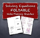 Solving Multi Step Equations Foldable Note Taking Guides Study Tools