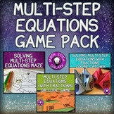 Solving Multi-Step Equations Game Bundle
