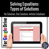 Solving Multi-Step Equations Google Forms Digital Activity