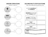 Solving Multi-Step Equations Graphic Organizer