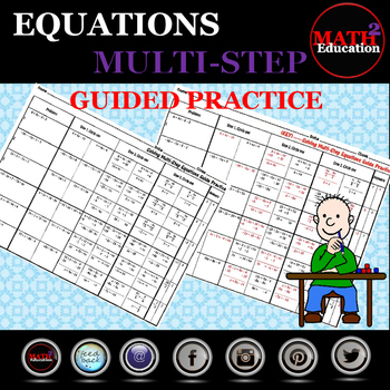 Solving Multi Step Equations Guided Practice