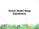 Solving Multi-Step Equations (Includes Word Problems)