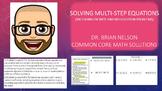 Solving Multi-Step Equations (Including Infinite & No Solution Problems)