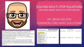 Solving Multi-Step Equations (Including Infinite & No Solu