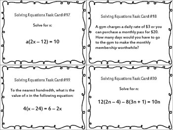 Solving Multi-Step Equations (Including Literal Equations and Word Problems)
