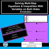 Solving Multi-Step Equations & Inequalities w/ Variables on Both Sides Foldable