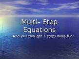 Solving Multi-Step Equations Introduction Powerpoint