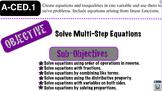 Solving Multi Step Equations Lesson 3
