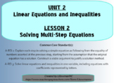 Solving Multi-Step Equations (Math 1)