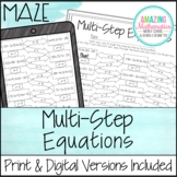 Solving Multi-Step Equations Maze Worksheet