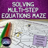 Solving Multi-Step Equations Digital Activity