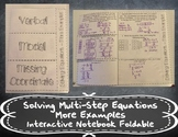 Solving Multi-Step Equations - More Examples Foldable