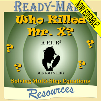 Solving Multi-Step Equations Mystery Activity (Scavenger Hunt)