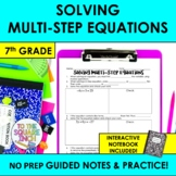 Solving Multi-Step Equations Notes