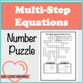 Solving Multi-Step Equations Number Puzzle