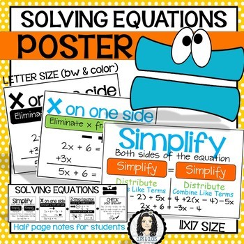 Solving Multi-Step Equations Poster