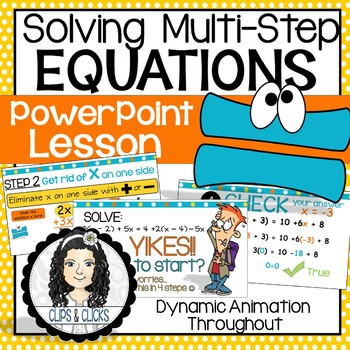 Solving Multi-Step Equations PowerPoint Lesson