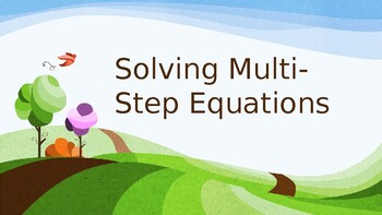 Solving Multi-Step Equations Powerpoint