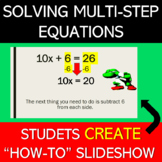 Solving Multi-Step Equations Project