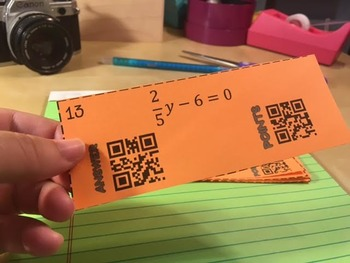 Solving Multi-Step Equations QR Code Game