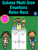 Solving Multi-Step Equations Relay Race