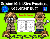 Solving Multi Step Equations Scavenger Hunt
