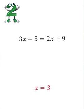 Solving Multi-Step Equations Scavenger Hunt Activity. w/ Distributive Property