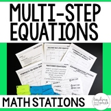 Multi-Step Equations Math Stations
