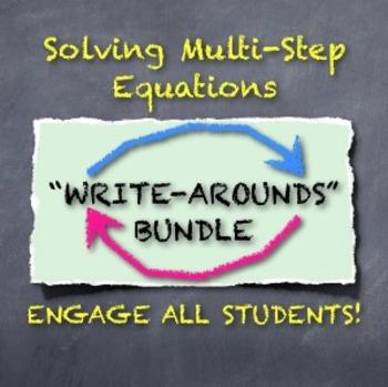 "Solving Multi-Step Equations: ""WRITE-AROUNDS"" Bundle!"