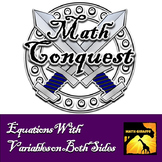 Solving Multi Step Equations With Variables on Both Sides - Conquest Game
