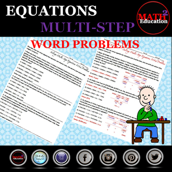 Solving Multi Step Equations Word Problems